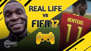 Extreme FIFA 17 vs REAL LIFE CHALLENGE with Benteke!