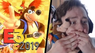 MY LIVE REACTION TO BANJO-KAZOOIE IN SMASH BROS ULTIMATE! | RogersBase E3 2019