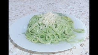Спагетти с зеленью и сыром