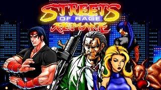Streets of Rage: Remake (PC) - All Secret Characters Gameplay - [Геймплей за секретных персонажей]