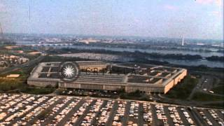 The Pentagon building in Arlington, Virginia as seen from the air. HD Stock Footage