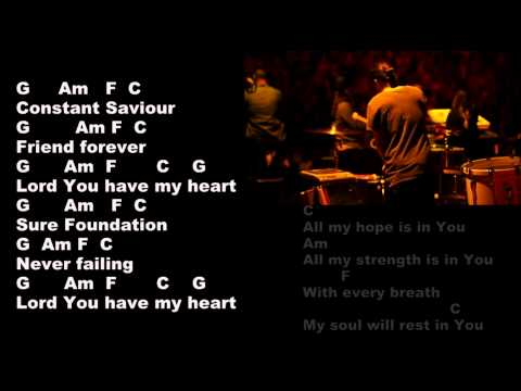 Hillsong - All My Hope - Lyrics and Chords