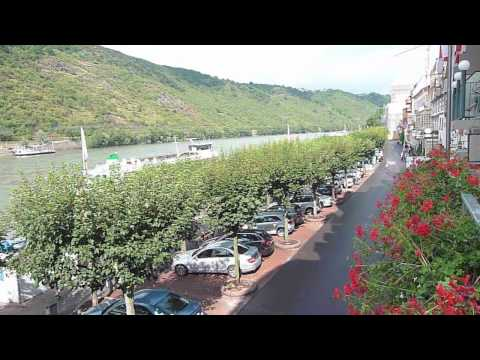 Boppard Best Western Bellevue Rheinhotel balcony, Rijn, Duitsland, Rhein, Germany