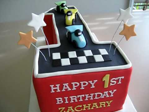 Racing Cars Number 1 Birthday Cake YouTube