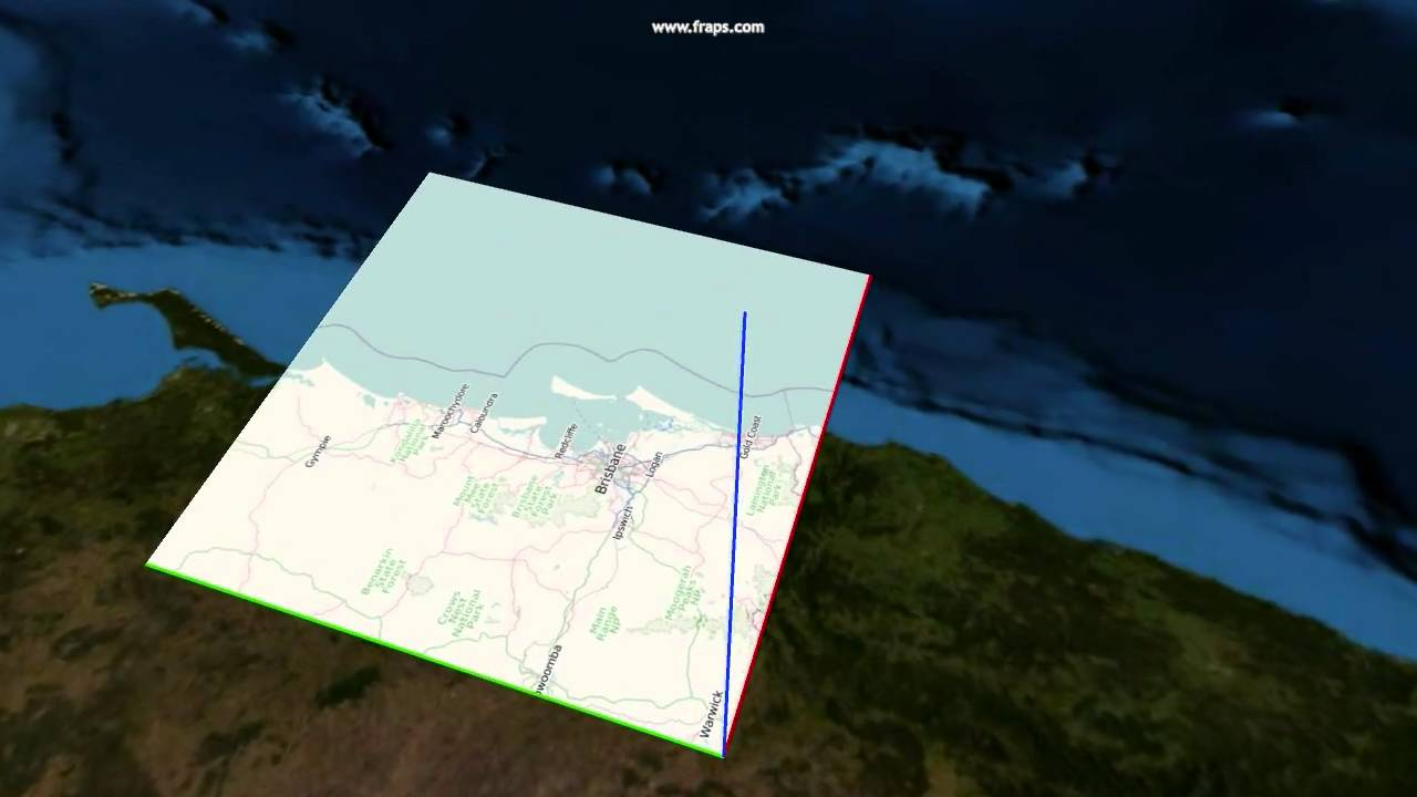 Hd opengl open streep map test over brisbane youtube hd opengl open streep map test over brisbane ccuart Choice Image