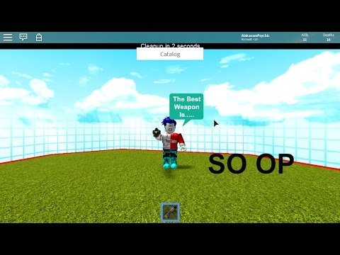 TOP 5 WEAPONS IN CATALOG HEAVEN ROBLOX