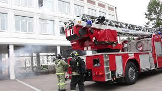 Пожар в кабинете химии во время ПТУ