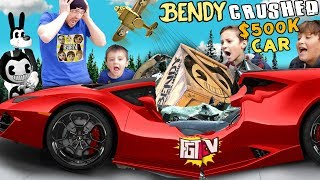 Download Lamborghini Crushed by Falling Box! What's Inside? FGTEEV Mystery Bendy Crate Mp3 and Videos
