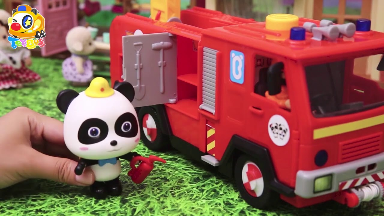 A Dragon Invades the City | City on Fire! | Police Car, Fire Truck, Ambulance for Kids | ToyBus
