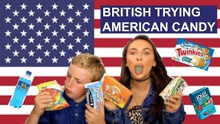 british trying american candy with my brother