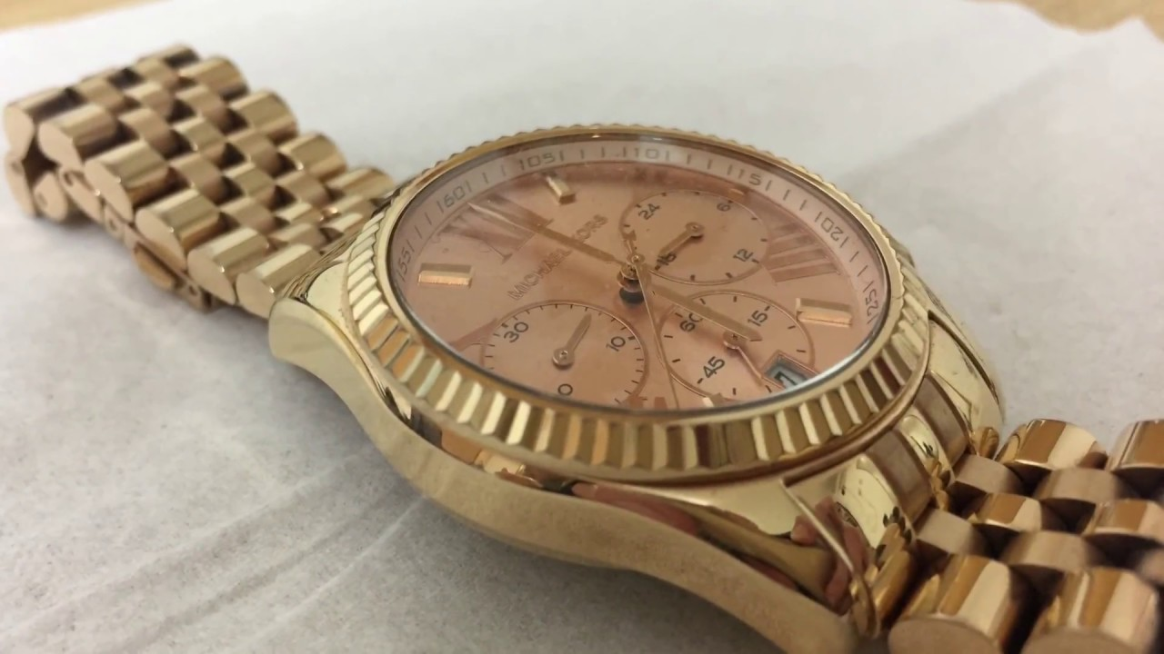 ea33a255197e Michael Kors MK5569 Lexington Chronograph Rose Gold Ladies Watch ...