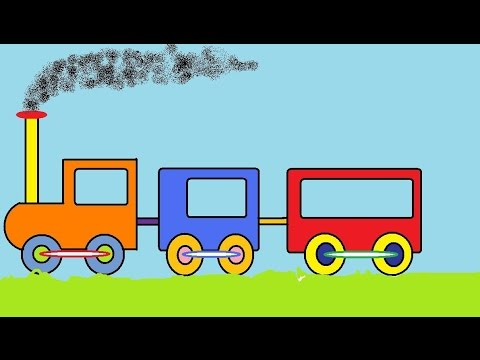 Funny colorful train for children Nursery rhymes toddlers babies infants kindergarten