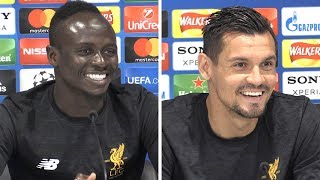 Sadio Mane & Dejan Lovren Pre-Match Press Conference - Real Madrid v Liverpool - Champions League