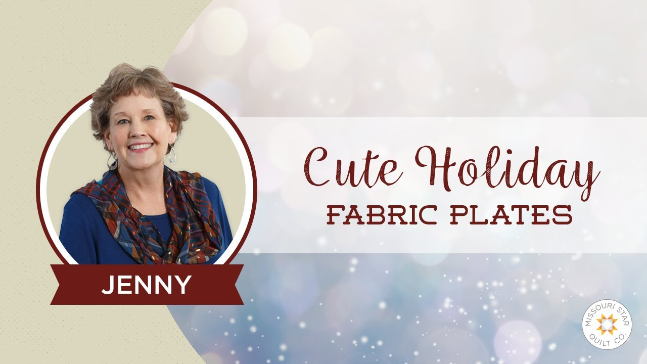 Make Cute Holiday Fabric Plates Using Mod Podge Youtube