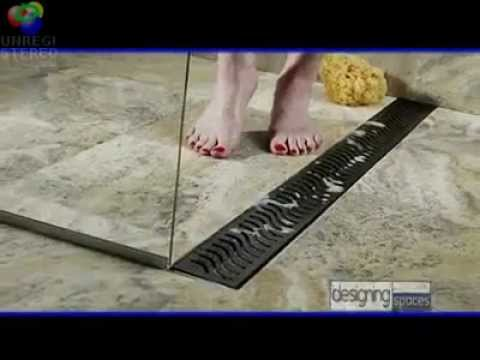 Linear Shower Drains  Designing Spaces  YouTube