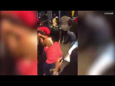 Shocking Moment Fight Involving Women Breaks Out In