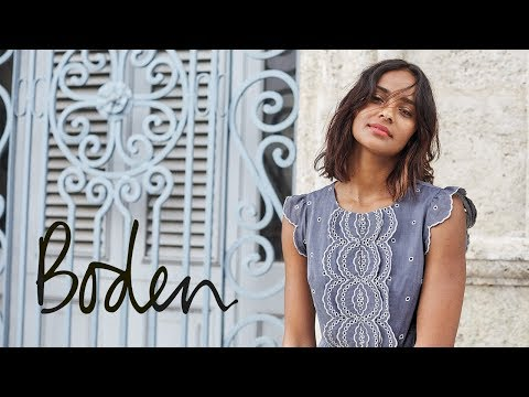 Boden SS18 Lookbook - May holiday dresses, tops and shorts