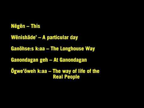 Seneca Language - Fall 2012