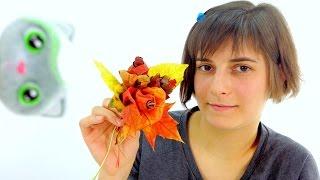Детские ПОДЕЛКИ из природных материалов! РОЗА из кленовых листочков!(Поделки своими руками из природных материалов: делаем розу из кленовых листьев. Милая кошечка Тося, очень..., 2015-10-15T06:49:04.000Z)