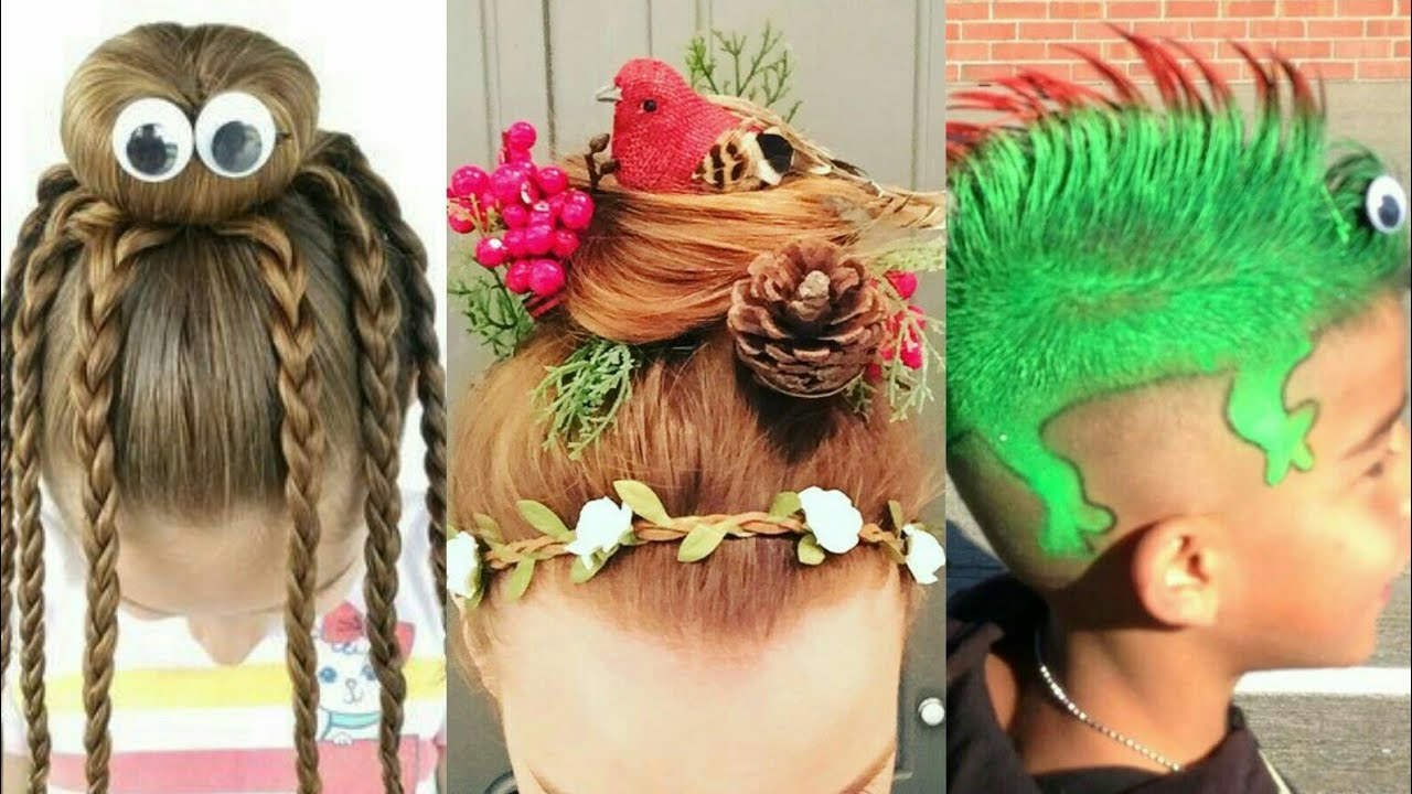 crazy hair style | wacky hair style 2017 | crazy hair day in school