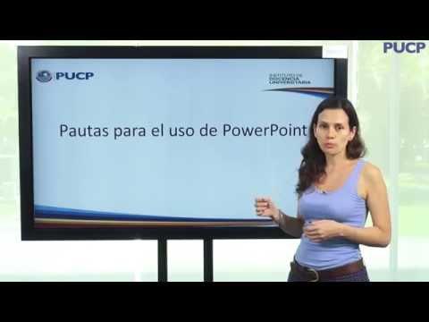 PUCP - ¿Cómo hacer una buena presentación en PowerPoint?