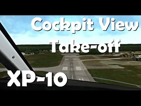 how to take off in x plane 10