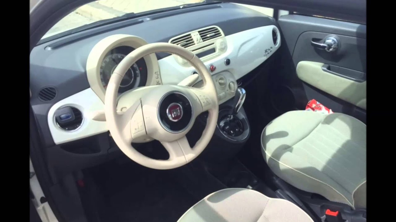fiat 500 1 2 lounge automatico blanco youtube. Black Bedroom Furniture Sets. Home Design Ideas