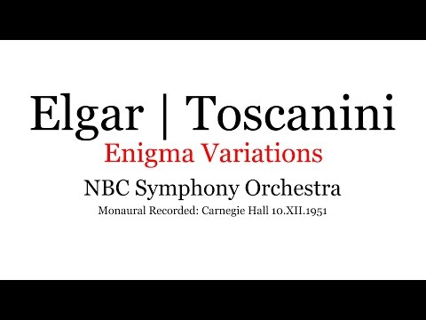 Elgar Enigma Variations NBC Arturo Toscanini 1951