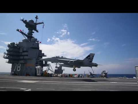 USS Gerald R. Ford - Landing and Launching of Aircraft