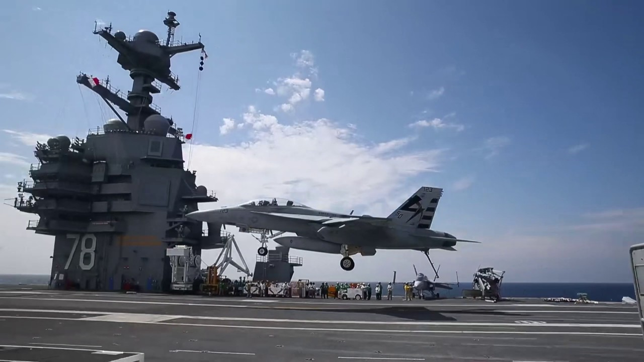 USS Gerald R. Ford   Landing And Launching Of Aircraft