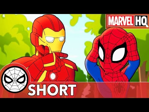 Spidey's Swiping Makes a Mess with Iron Man! | Marvel Super Hero Adventures - Mine! | SHORT