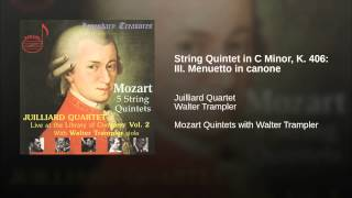 String Quintet in C Minor, K. 406: III. Menuetto in canone
