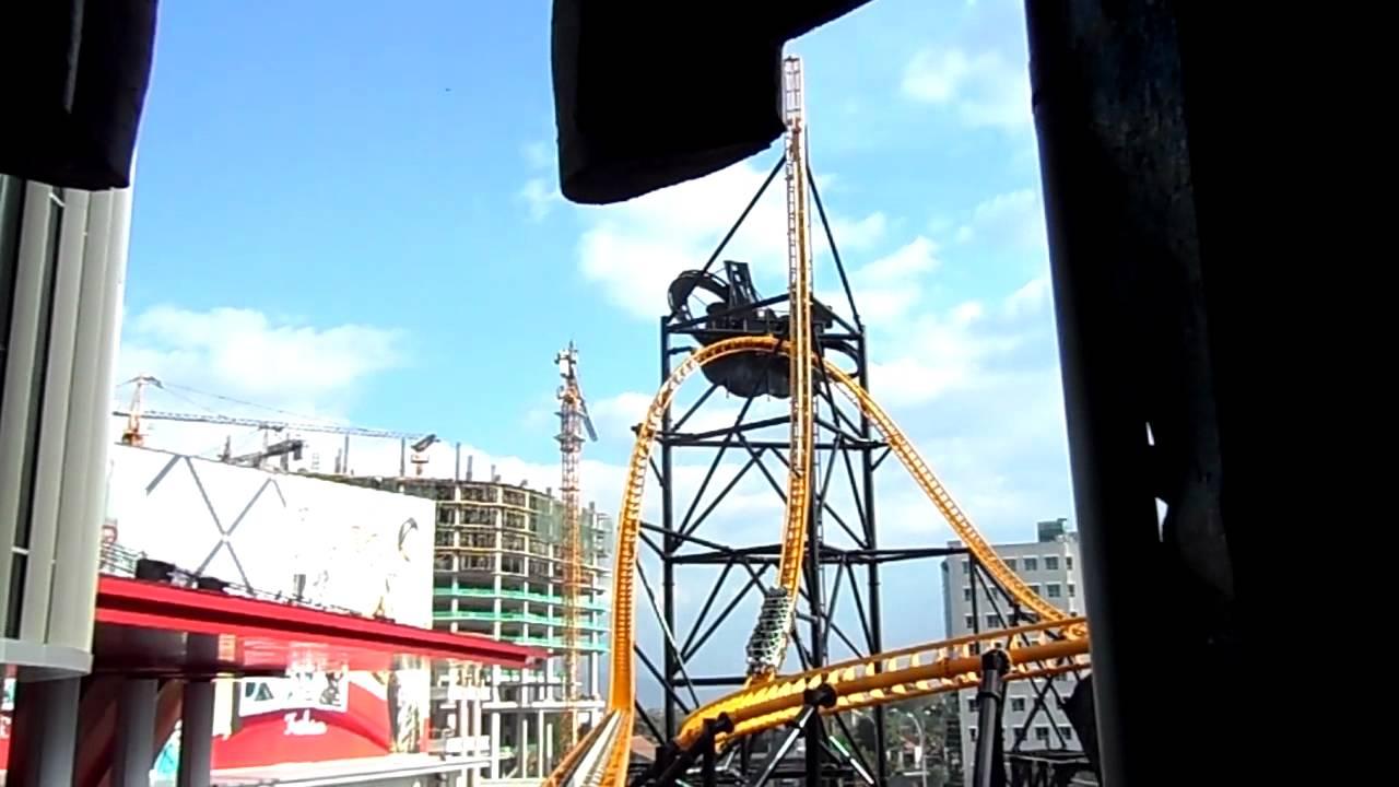 Trans Studio Bandung Indonesia Roller Coaster Youtube