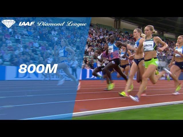 Caster Semenya sprints down the field in the Women's 800m - IAAF Diamond League Oslo 2017