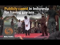 Two Men Publicly Caned For Gay Sex In Indonesia video