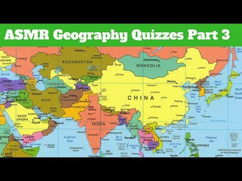 [ASMR] Whispered Geography Quizzes Part 3!