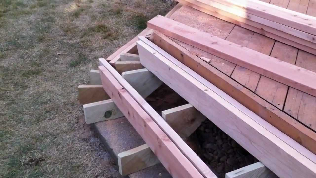 Installing Deck Stairs And Steps Part  Denver Deck