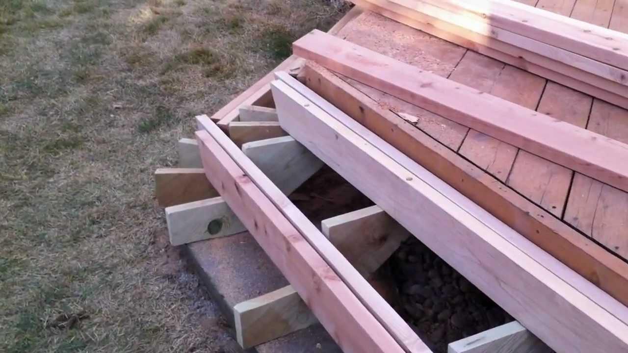 Installing Deck Stairs And Steps Part 2 Denver Deck   Making Steps For Decking