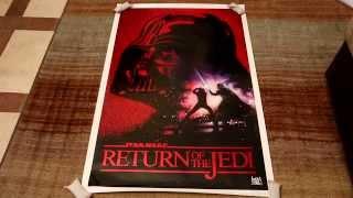 Return of the Jedi 10th Anniversary RED Foil Drew Struzan poster review. HD