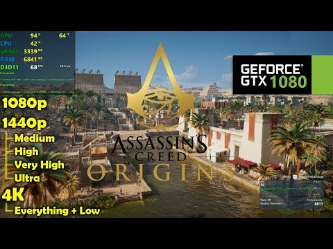 GTX 1080 | Assassin's Creed Origins - 1080p, 1440p & 4K - Various Settings! |
