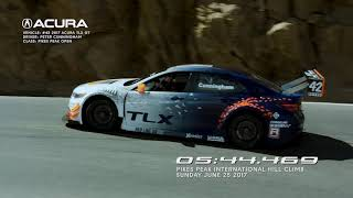 2017 RealTime Acura TLX-GT Sets Record at Pikes Peak