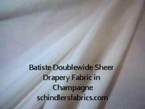 Batiste Doublewide Sheer Drapery Fabric in Champagne