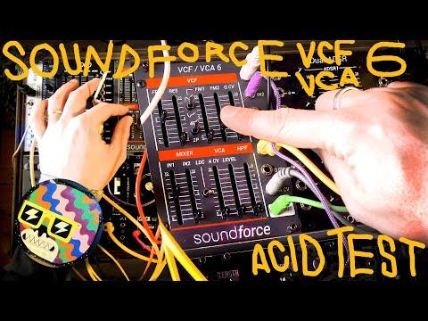 SOUNDFORCE VCF/VCA 6 JUNO FILTER DEMO