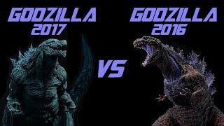 GODZILLA 2017 VS GODZILLA 2016 TOY BATTLE
