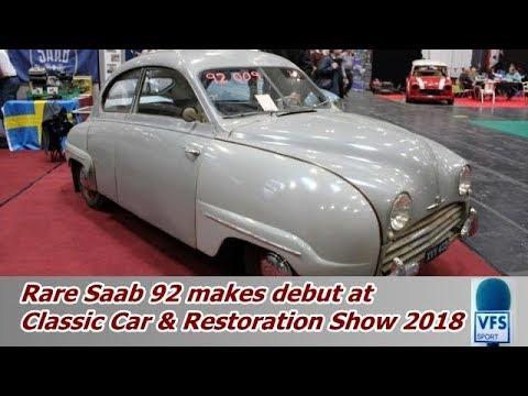 saab 92 prototype nec classic car restoration show 2018 youtube. Black Bedroom Furniture Sets. Home Design Ideas