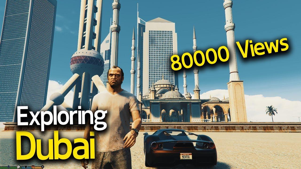 Dubai What a Rocking City😍 Lets Explore Dubai on GTA 5 With malayalam Techies