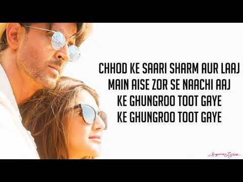 Ghungroo Lyrics War  Arijit Singh, Shilpa Rao  Hrithik Roshan,vaani Kapoor