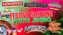 Slots With Jimbo! Online Compilation Session , Monopoly Megaways, Happy Holidays & more!