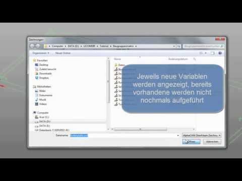 Licom AlphaCAM, Parametrik mit Baugruppen und Excel-Tabellen