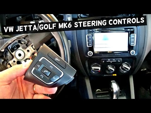 VW JETTA MK6 STEERING WHEEL CONTROLS REMOVAL REPLACEMENT GOLF MK6